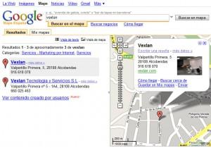 Vexlan Tecnología y Servicios en Google Maps